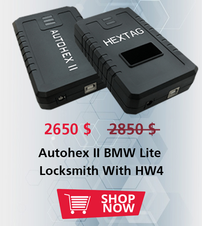 Autohex II BMW Lite Locksmith With HW4