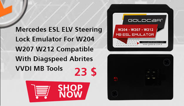 Mercedes ESL ELV Steering Lock Emulator For W204 W207 W212 Compatible With Diagspeed Abrites VVDI MB Tools
