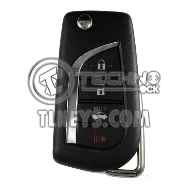 TOYOTA CAMRY / HILUX 4BUTTONS 315MHz FLIP REMOTE